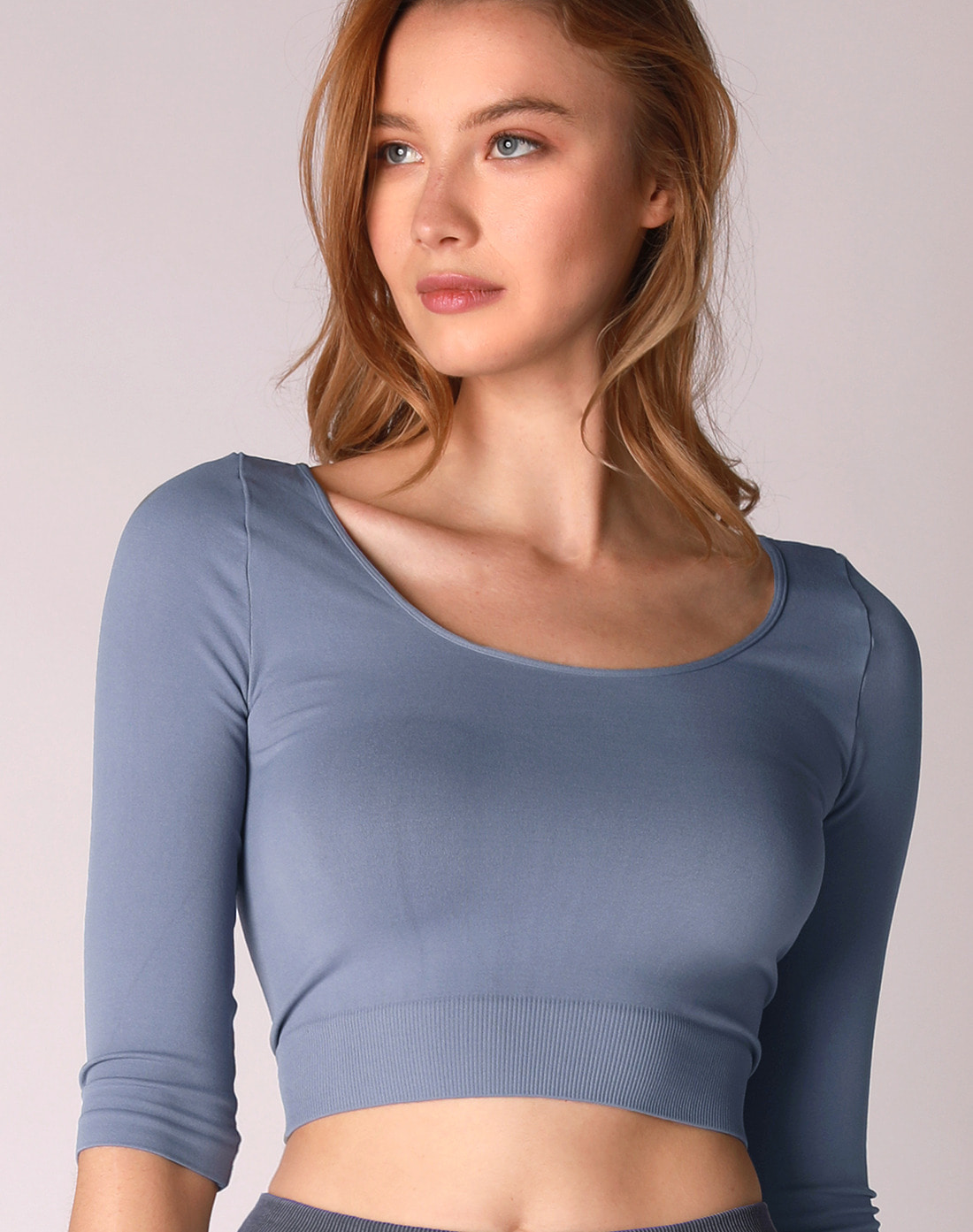 Half Sleeve Crop Top (VK2TS444)