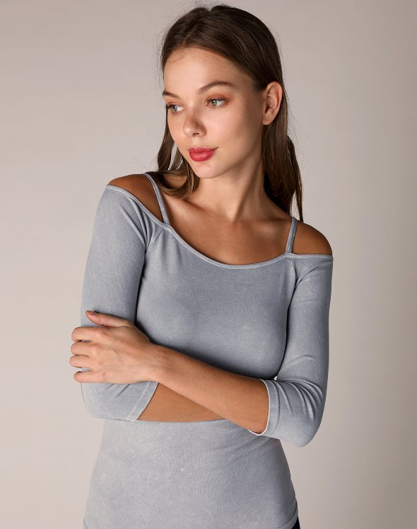 Off Shoulder 3/4 Top (VJ4TS440/SM)