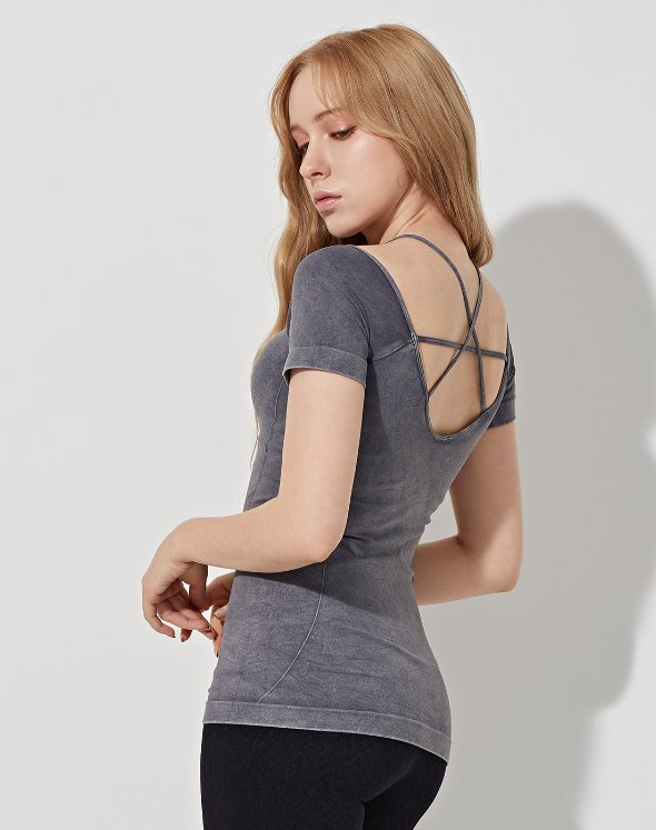 Deep Neck Yoga Top (VK4TS162/RO)