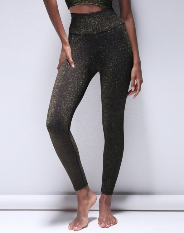Lurex V Back 7/8 Leggings (VL2B8031/ZB)