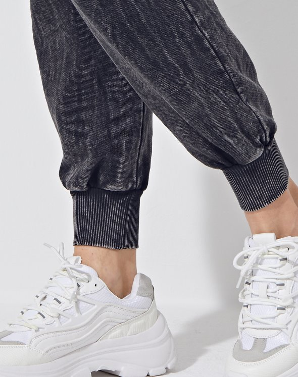 Twill French Terry Sweat Pants (VK2LF809/BK)