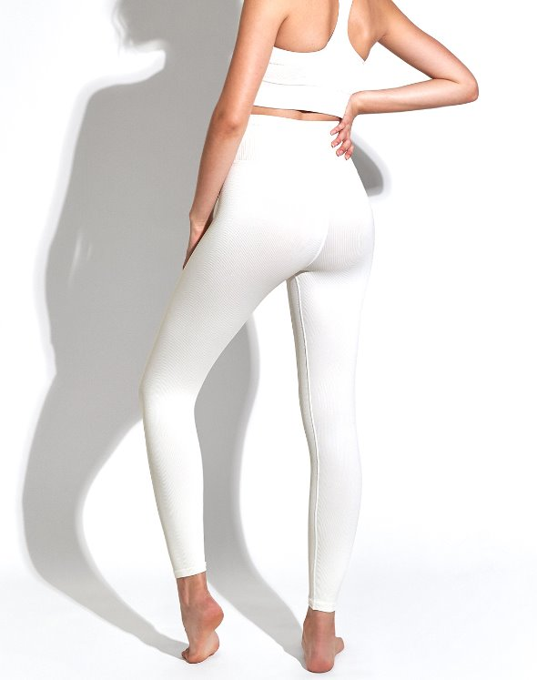 Selina Shiny Rib V Back 7/8 Leggings (VK4BO885/SA)