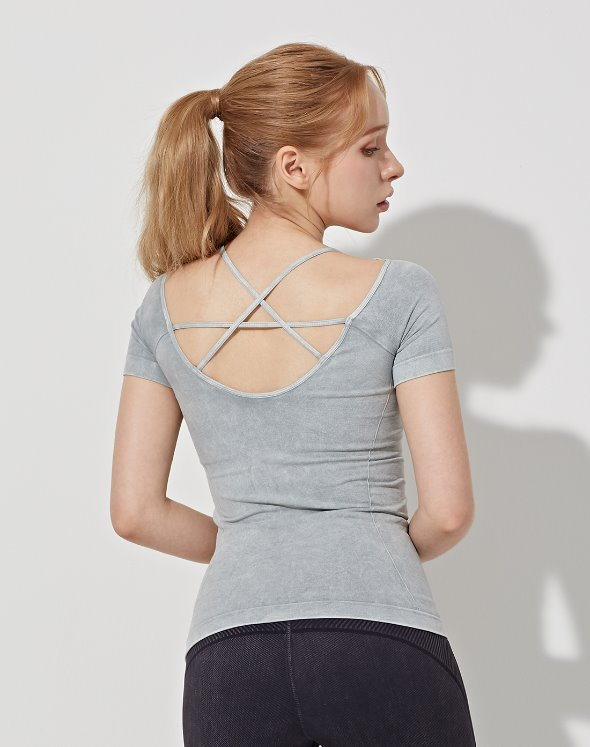 Deep Neck Yoga Top (VK4TS162/SM)