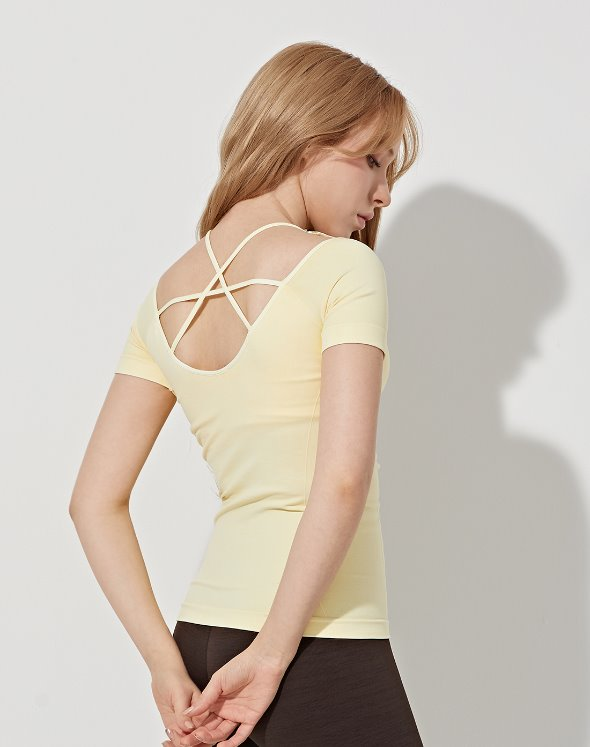 Deep Neck Yoga Top (VK4TS162/LY)